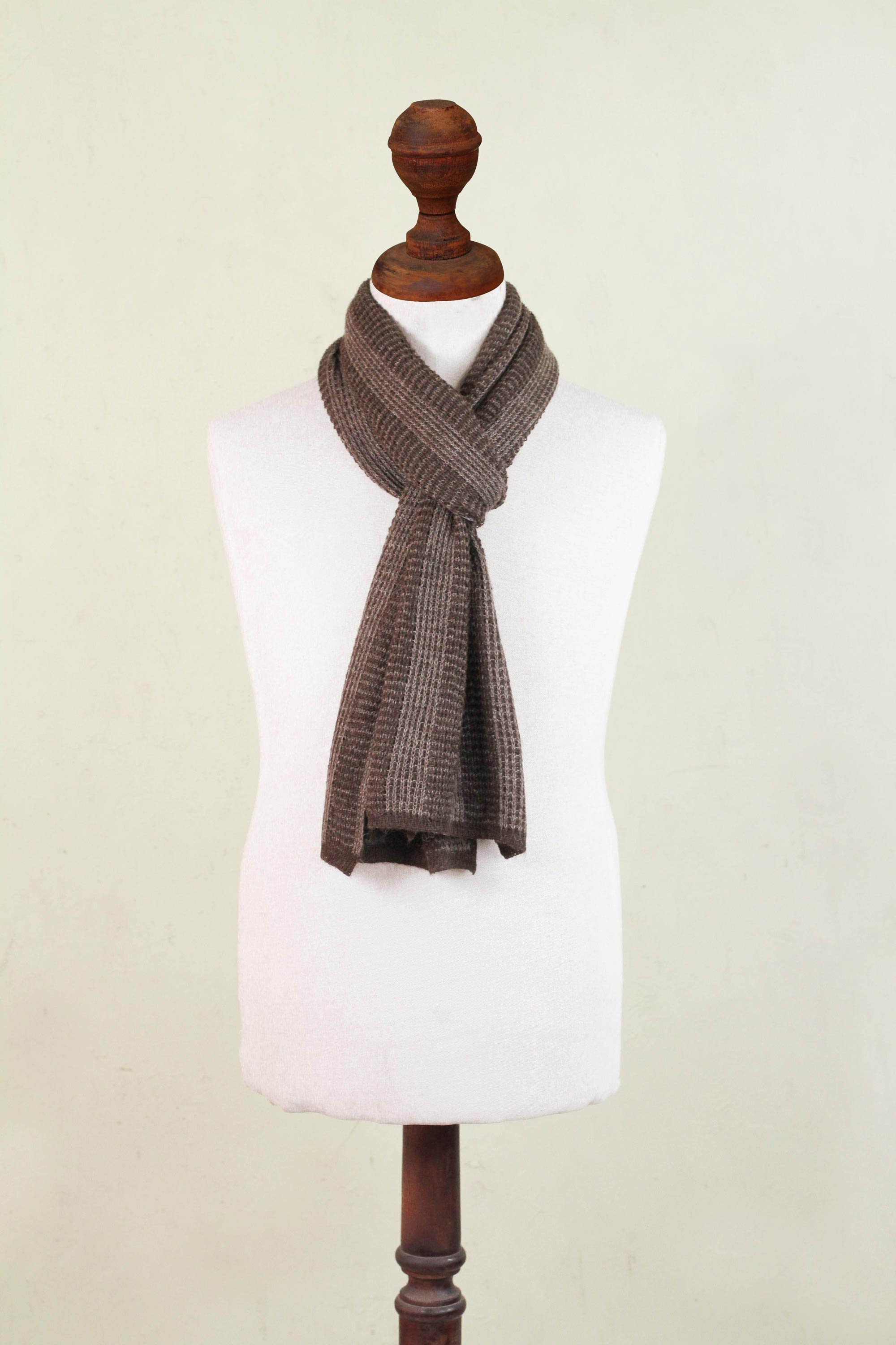 """Alpaca blend men's scarf, """"Hot Chocolate"""" CAN'T MISS FATHER'S DAY GIFTS"""