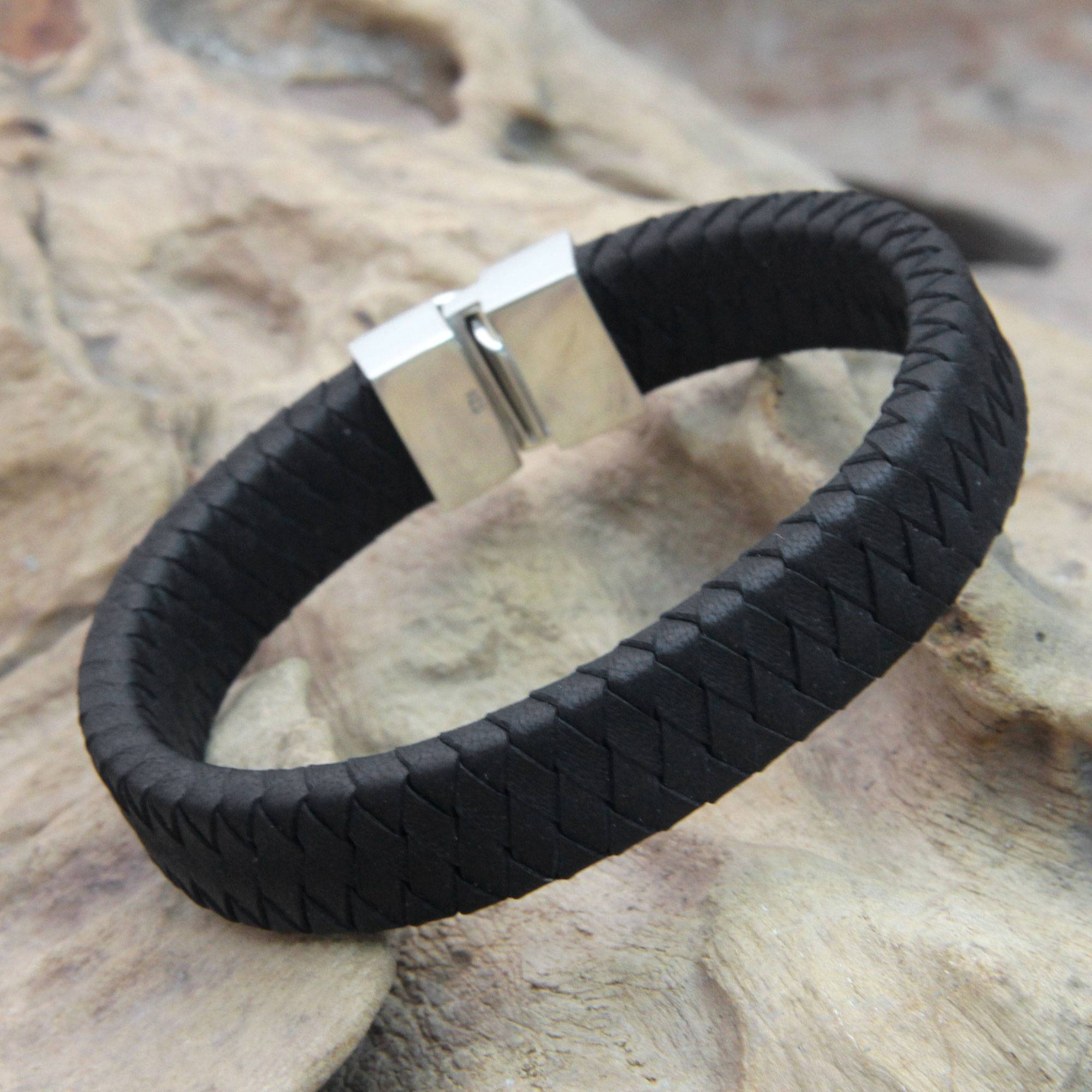 """Men's Hand Crafted Braided Leather Bracelet, """"Courage"""" CAN'T MISS FATHER'S DAY GIFTS"""
