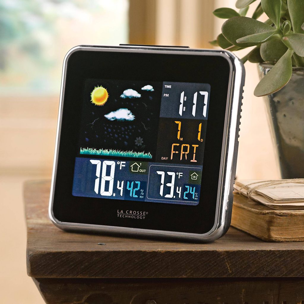 """""""Rain or Shine,"""" Wireless Color Forecast Station with Atomic Clock Father's Day gift idea"""