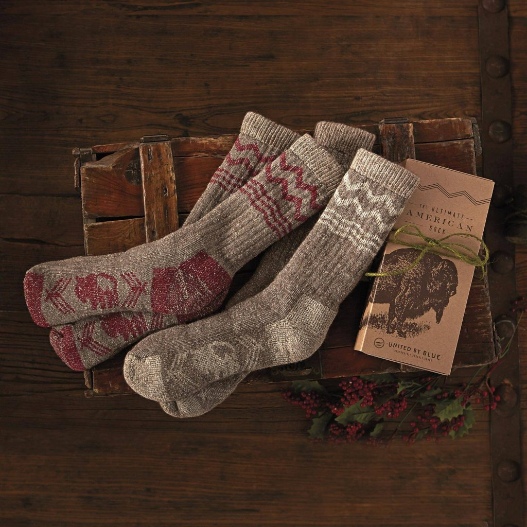 """""""American Bison,"""" American Bison Socks, Father's Day gift idea"""