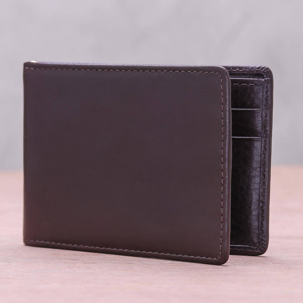 """""""Executive Espresso,"""" Men's leather wallet father's day gift idea"""