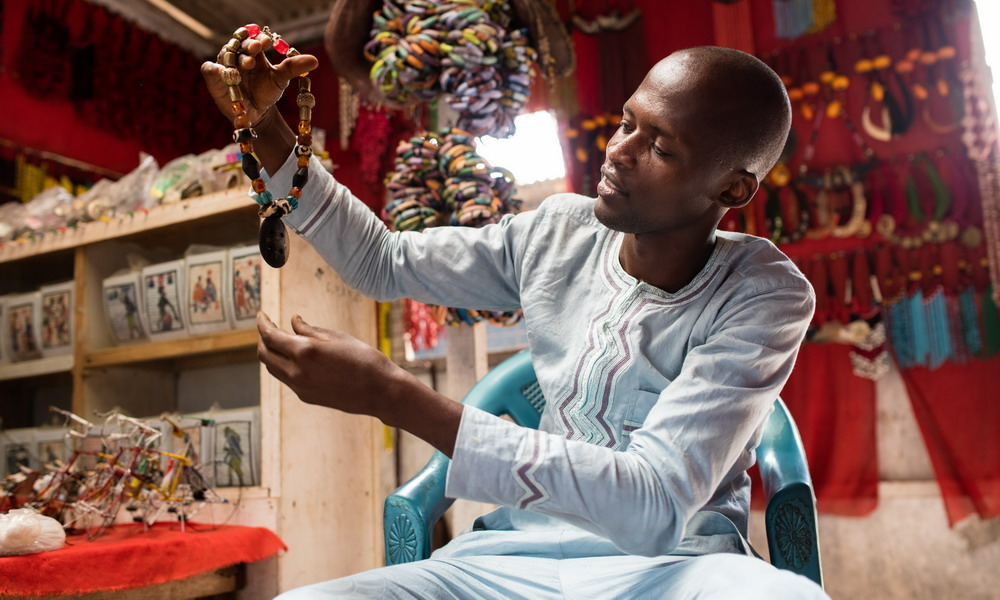 Ila Suleyman - Leather and beaded jewelry - West Africa