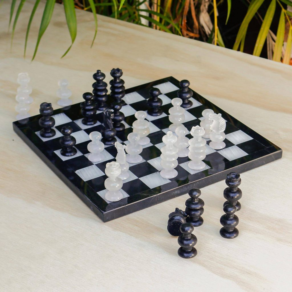 """Collectible Stone Chess Set, """"Triumph"""" New year's Resolutions"""