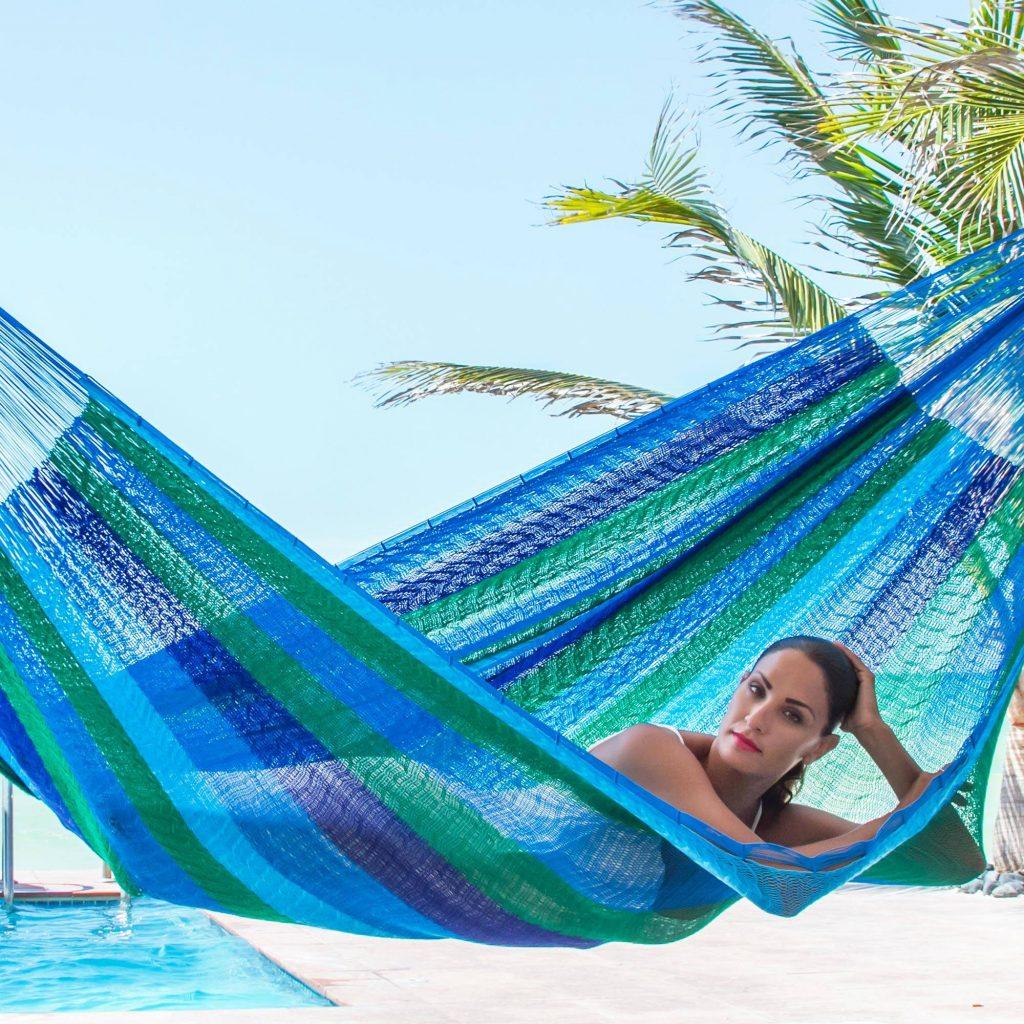 "Double Mayan Rope Style Nylon Hammock Handmade in Mexico, ""Sea Breeze"" Hammock Questions"