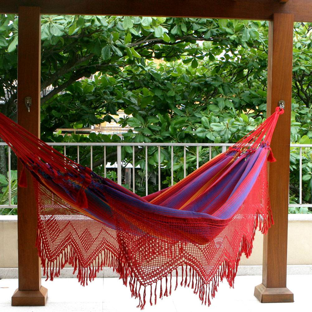 """Hand Made Cotton Fabric Hammock (Double), """"Forro Dance"""" Hammock Questions"""