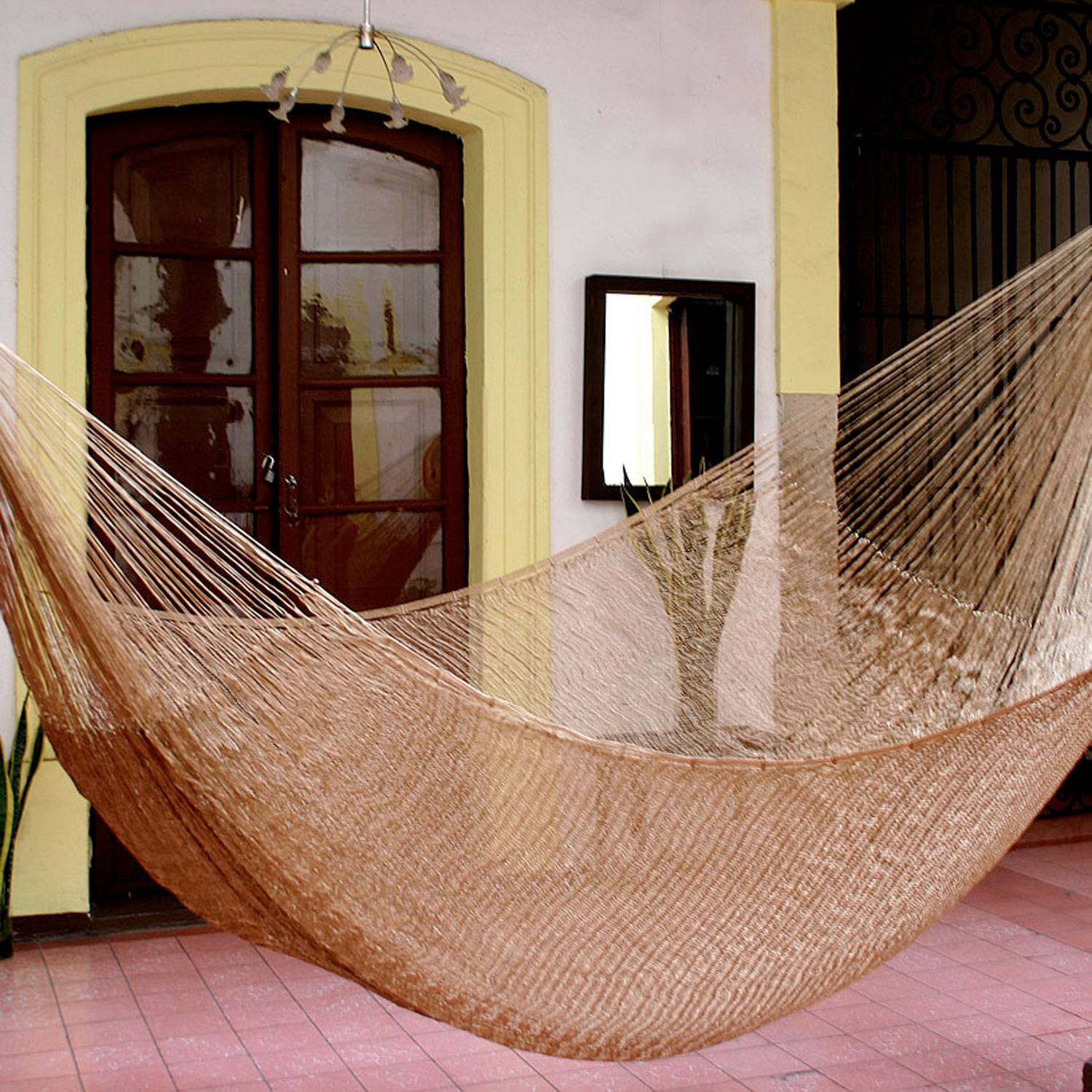 """Handcrafted Solid Rope Hammock (Double), """"Glowing Bronze"""""""