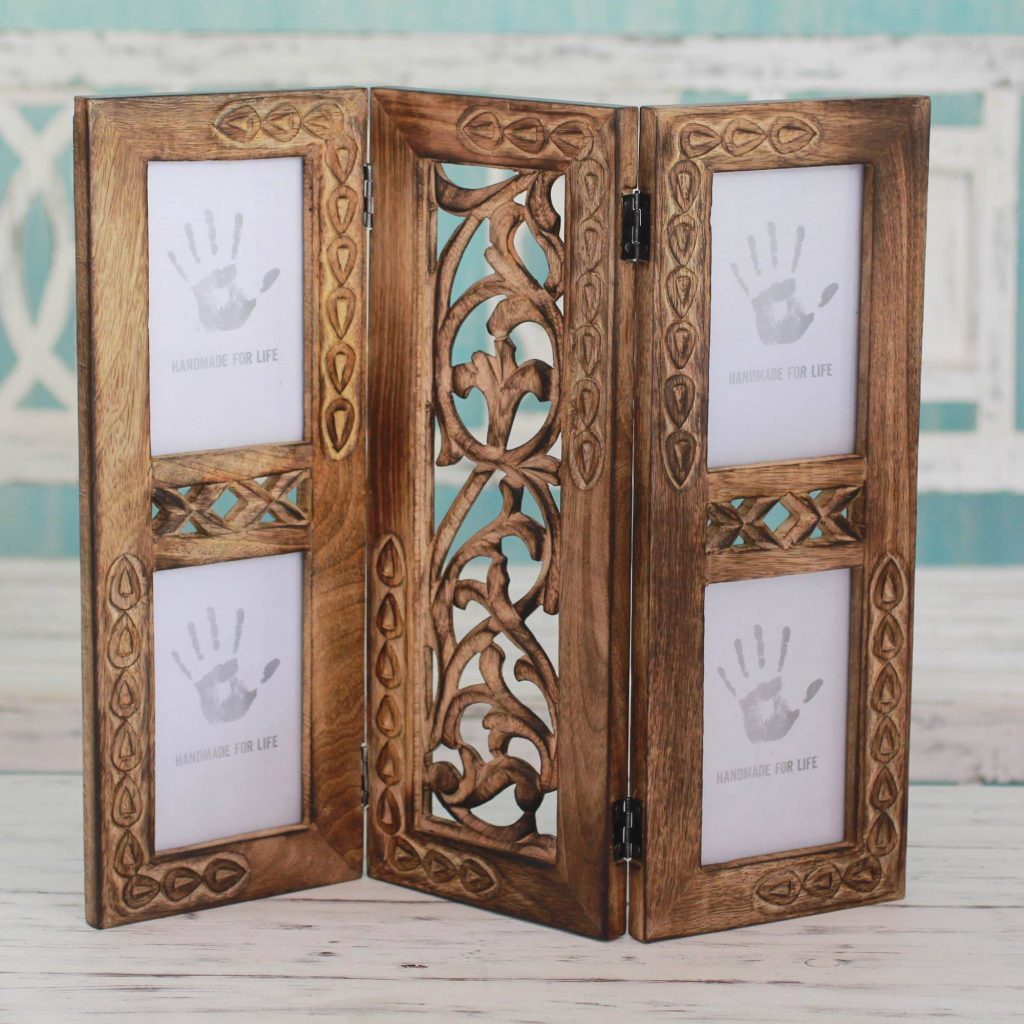 """Handcrafted Sustainable Wood Photo Frame (4x6), """"Garden of Memories"""" New Year's Resolutions"""