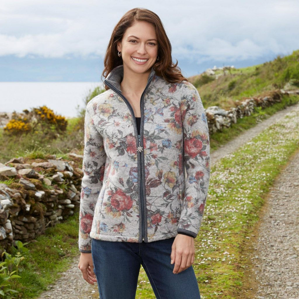 """Italian Alps Floral Wool Blended Jacket, """"Alpen Rose"""" New Year's Resolutions"""