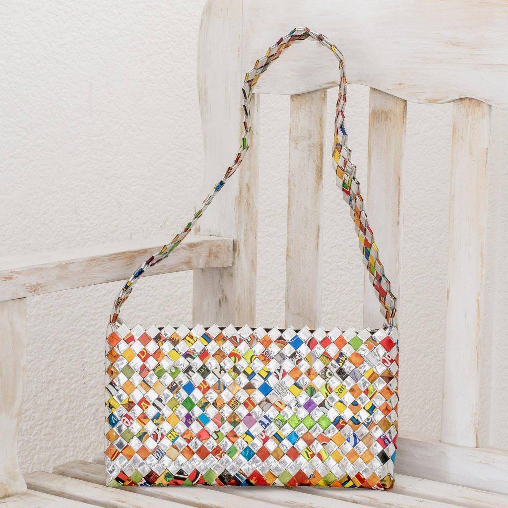 "Recycled Wrapper Handbag Handmade in Guatemala, ""Eco-Cheer"" New year's Resolutions"