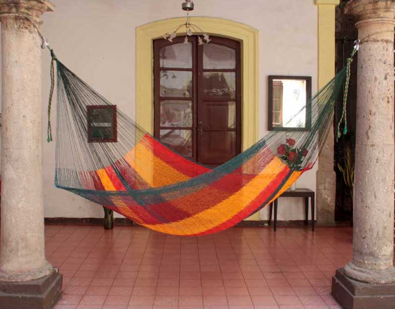 """Single Mayan Rope Style Mexico Cotton Hammock, """"Red Wine Sunset"""" Hammock Questions"""