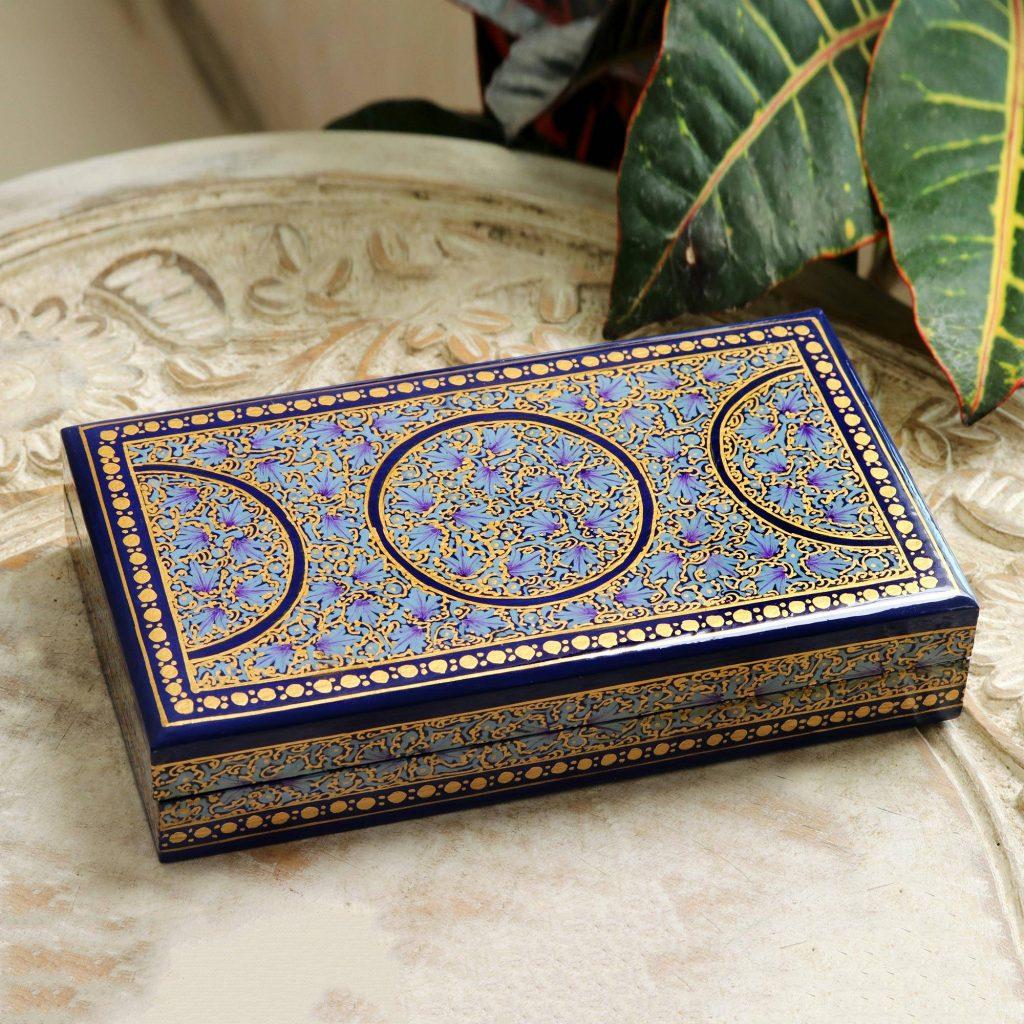 Papier mache decorative box, 'Kashmir Dynasty' Exquisite Jewelry Boxes