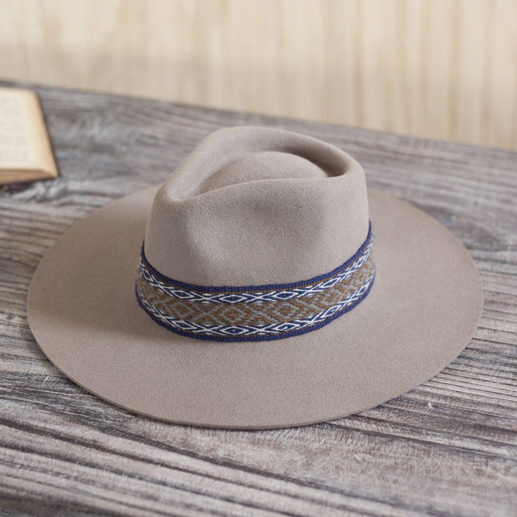 "Beach day Peruvian Felt Hat, ""Munay in Taupe"""