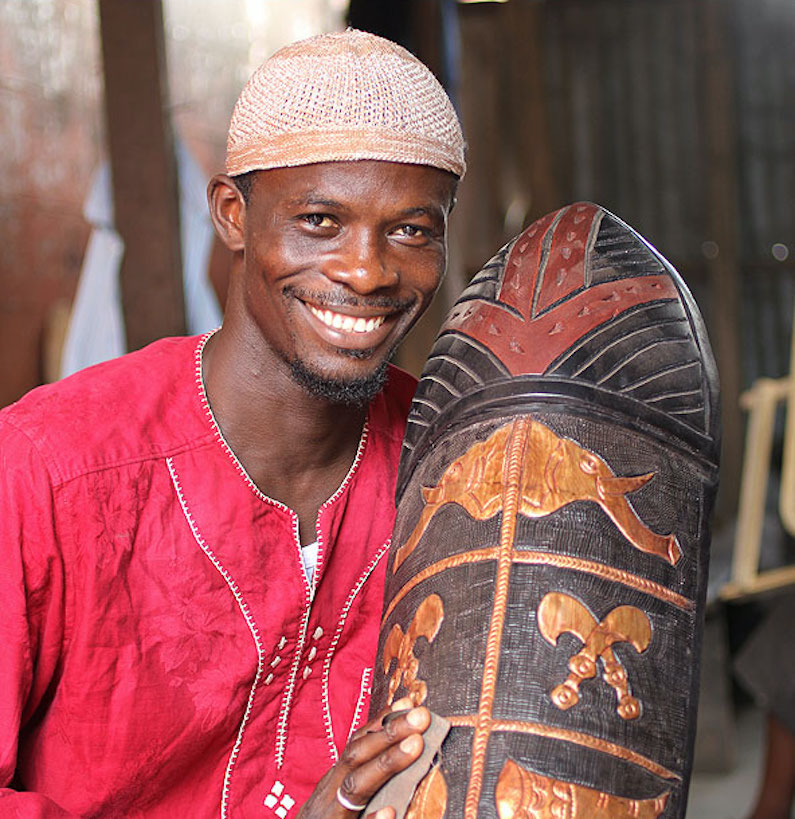 West African Wood Carver, Abdul Aziz Mohamadu African Art