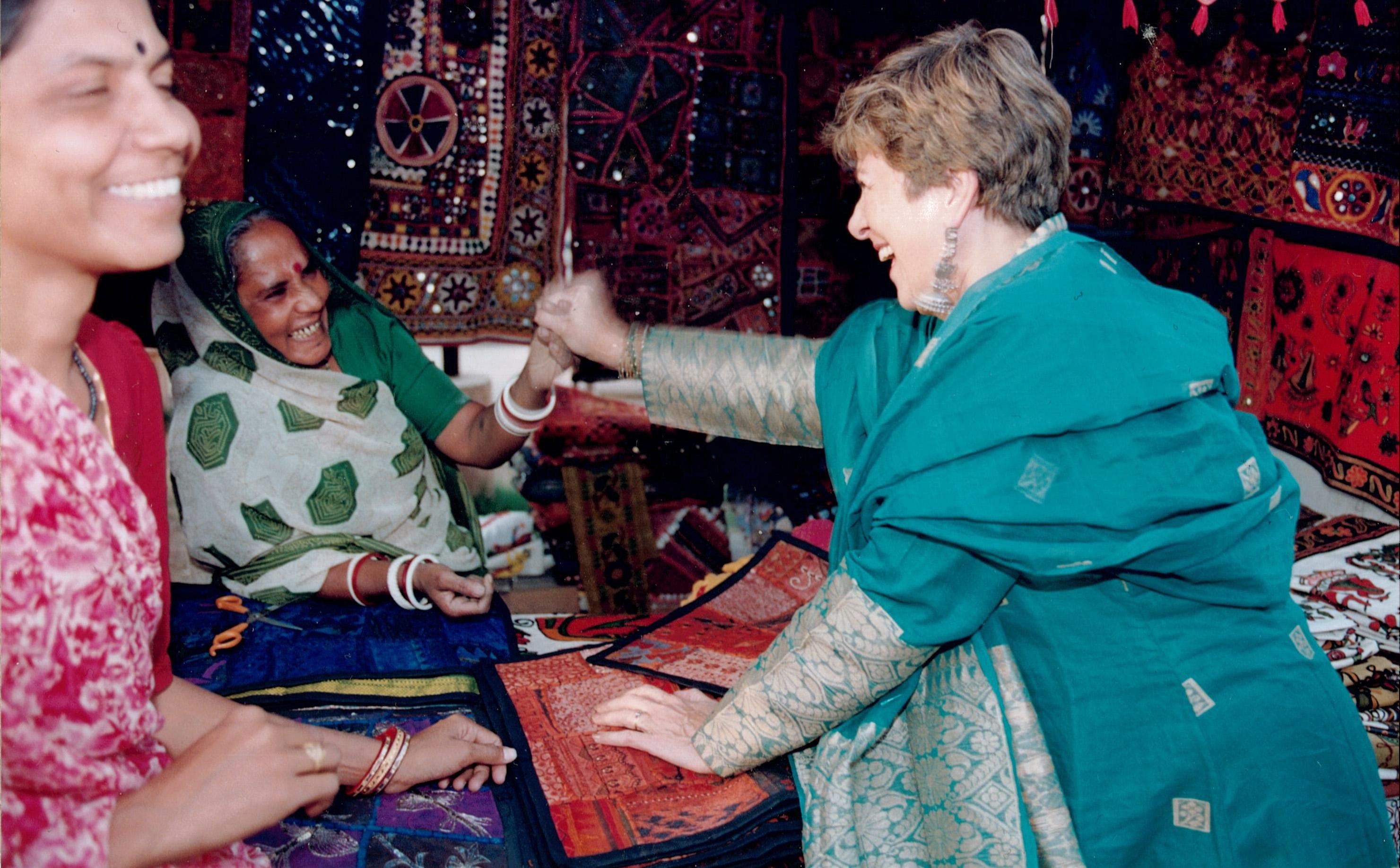 Meeting artisans in India
