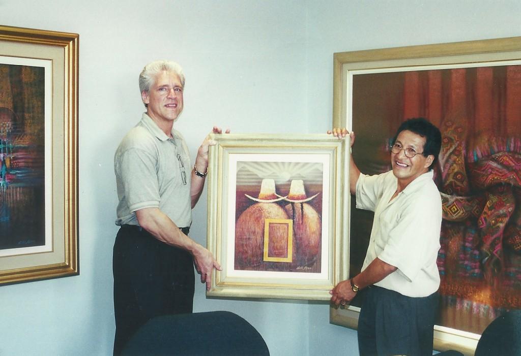 Rick Allen with Artist